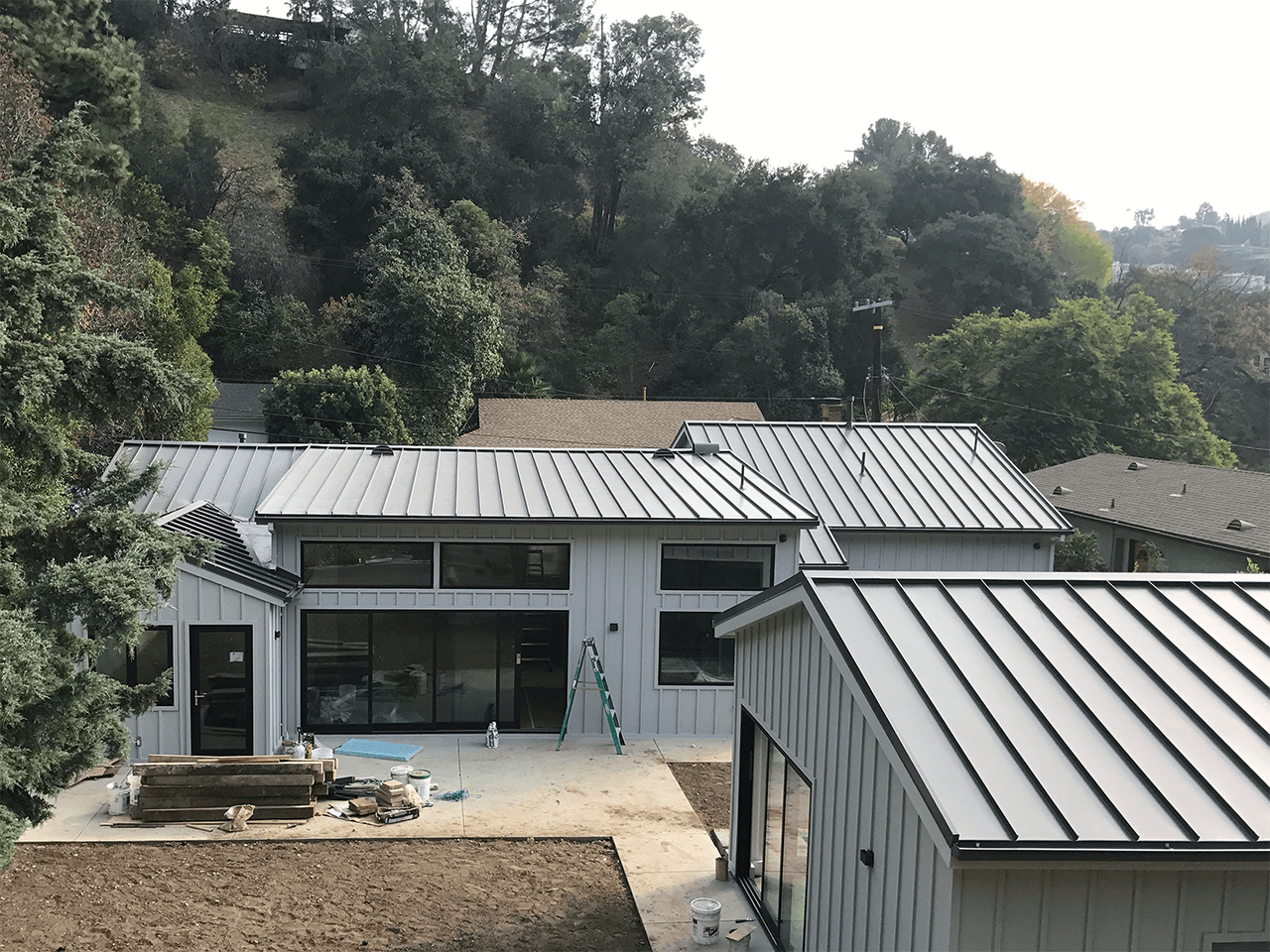 Metal roof installed on home